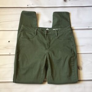 So army green high rise jegging size 7